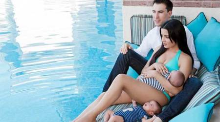 Celina Jaitly pregnant with twins again, says 'we are the chosenone'