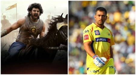 SS Rajamouli's Baahubali gets an interesting and playful twist. But what is MS Dhoni doing here? Watch video