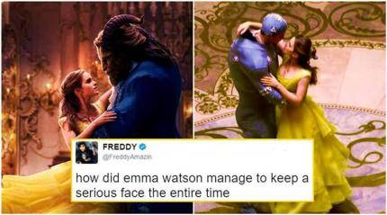 Beauty and the Beast's behind-the-scene photos are so ridiculous that Twitterati is roaring with laughter