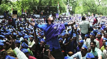 Protest call by Bhim army: Travelling by road and rail, thousands turn up at Dalit rally to protest Saharanpur violence