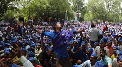 Dalit activists gather at Jantar Mantar to protest Saharanpur clashes