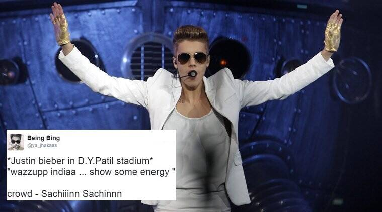 justin bieber, #justinbieberinindia, justin bieber in india, justin bieber purpose tour in india, justin bieber navi mumbai jokes, justib bieber tour twitter jokes, justin bieber in india twitter reactions, indian express, indian express news