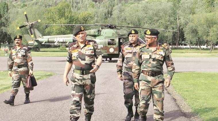 Bipin Rawat, Bipin Rawat Jammu, LoC, Bipin Rawat visits Army, J&K Army, India news, Indian Express