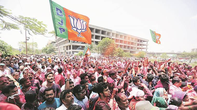 maharashtra local body elections, bjp win panvel, local polls mumbai, pwp, ncp, evm tampering, maharashtra news, indian express