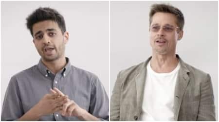 Brad Pitt, Rohan Joshi, brad Pitt War Machine, Brad pitt Rohan joshi netflix chat