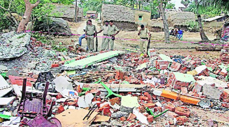 tmc, tmc office blast, burdwan tmc office blast, burdwan blast, bjp, west bengal, west bengal bjp, indian express, india news