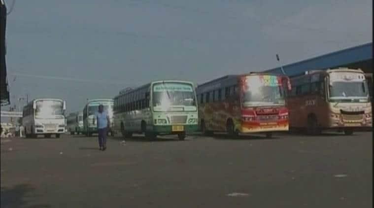 tamil nadu, bus strike, tamil nadu bus strike, tamil nadu transport union strike, transport union strike, bus strike, tamil nadu state tranport, tamil nadu buses, tamil nadu news, latest news, indian express