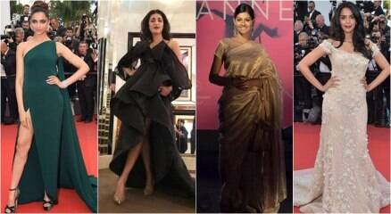 cannes 2017, cannes inidan actors, cannes 70 indian stars, deepika padukone, aishwarya rai bachchan, sonam kapoor, mallika sherawat, shruti hassan, cannes 2017 looks, canes 2017 best looks, indian stars cannes red carpet, cannes ret carpet looks, lifestyle news, entertainment news, indian express