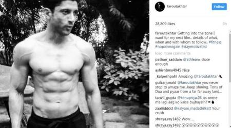Farhan Akhtar revealed he is getting into shape for his nextproject