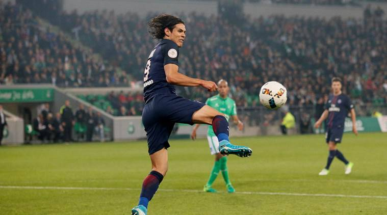 Edinson Cavani, PSG, Paris St Germain, Monaco, Leonardo Jardim, Kylian Mbappe, Mbappe, Danijel Subasic, Ligue 1, Ligue 1 awards, football, sports news, Indian Express