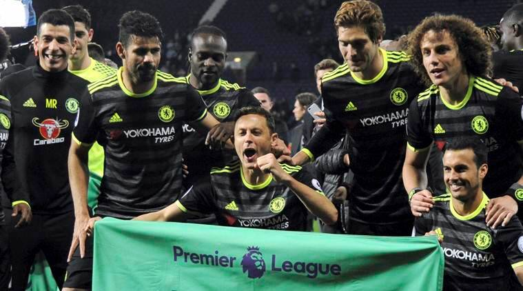 Chelsea, Antonio Conte, Chelsea celebrations, Willian, Diego Costa, Chelsea celebrates, Chelsea EPL winners 2017, Chelsea wins EPL 2017, sports news, football news, Indian Express