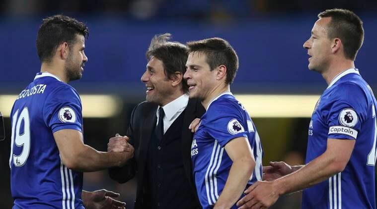 Chelsea, Antonio Conte, West Brom, Middlesbrough, Diego Costa, Marcos Alonso, Nemanja Matic, Stamford Bridge, EPL, EPL title, Premier League title, football, sports news, Indian Express