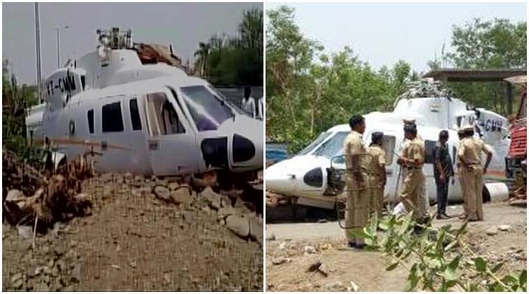 Maha CM Fadnavis escaped unhurt as his chopper crash landed