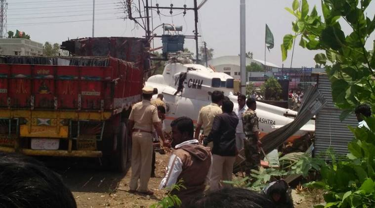 Fadnavis unhurt as chopper crash-lands in Latur