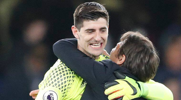chelsea, thibaut courtois, chelsea goalkeeper, premier league table, premier league, premier league chelsea, chelsea premier league title, football news, sports news, indian express