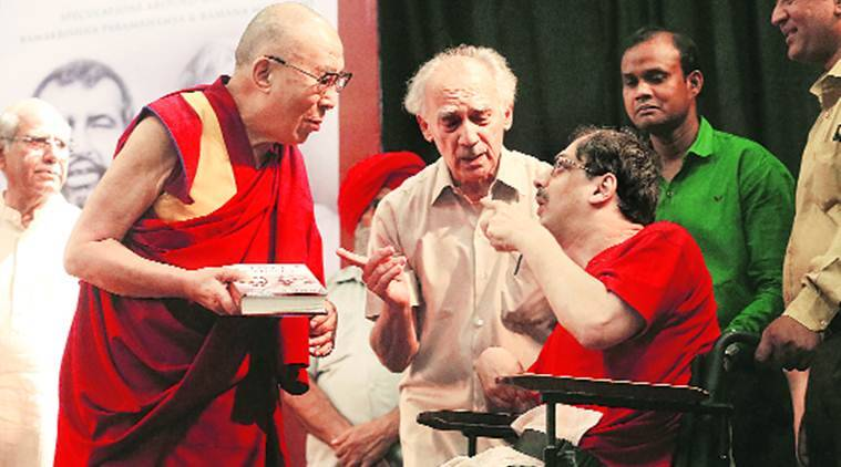 Dalai lama, dalai Lama india, The dalai Lama, arun shourie, Arun ahourie's Book launch, Tibetan spiritual guru, education, india news
