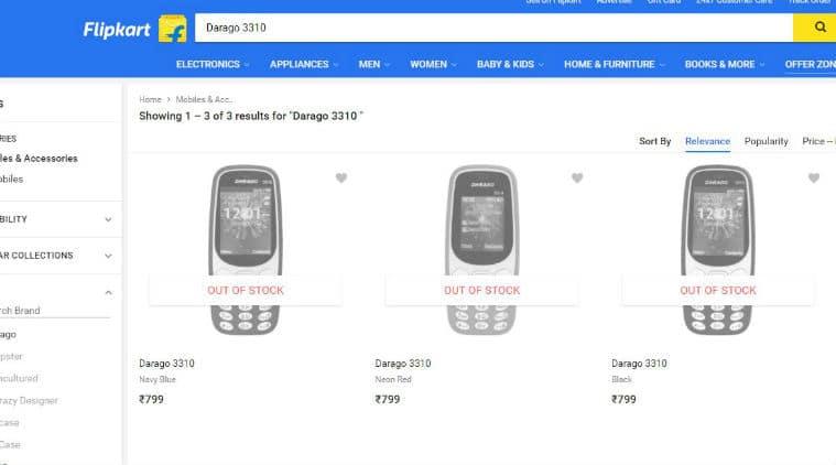Nokia, Nokia 3310, Nokia 3310 clones, Nokia 3310 lookalike, Darago 3310, Micromax X1i, Darago 3310 price, Darago 3310 features, Micromax X1i price, Micromax X1i, features, Flipkart, Amazon, Nokia 3310 India price, feature phones, Nokia news