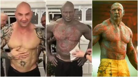 Guardians of The Galaxy Vol. 2: Actor Dave Bautista's transformation to Drax will shock you. Watch video