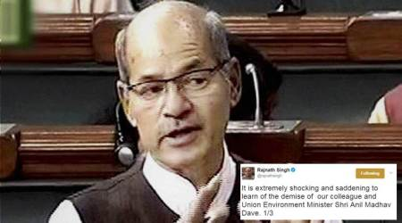 Anil Madhav Dave's death: BJP ministers, leaders post condolence messages onTwitter