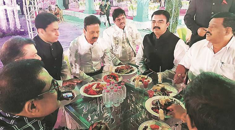dawood relative wedding, maha minister dawood family wedding, dawood niece marriage nashik, fadnavis, maha cm, indian express