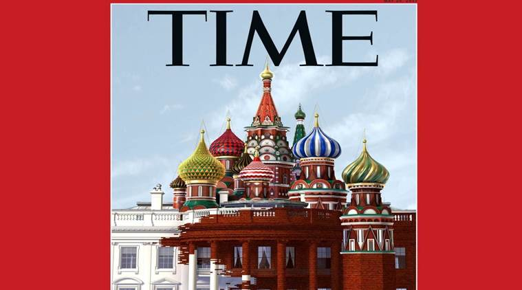 Time Magazine, Time Magazine cover, Russia and US, Time Magazine controversial cover picture, Donald trump, Putin, Russian Ties, Indian express news, India news, Latest news