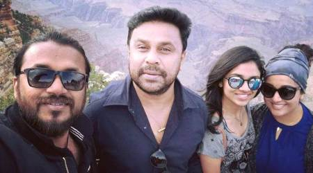Dileep, Kavya Madhavan are in USA for The Dileep show and they seem to be having fun. See video,pic