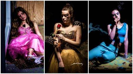 Disney princesses struggle with sexual abuse and drug overdose in this thought-provoking photo series