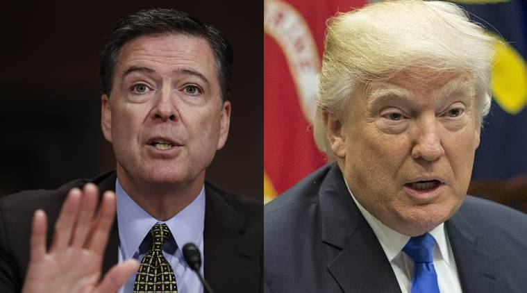 Donald Trump, James Comey, James Comey firing, Former BI director James Comey, India news, National news, latest news, India news, National news