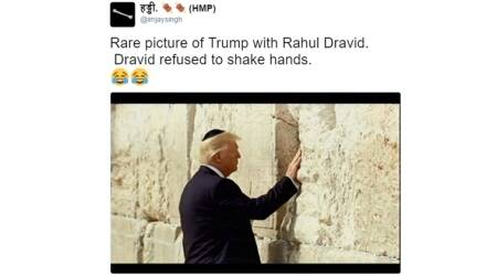 donald trump, donald trump first foreign trip, donald trump first foreign trip funny photos, donald trump with pope, donald trump in jerusalem wall, donald trump jerusalem memes, donald trump jerusalem wall funny tweets, donald trump funny twitter reactions, donald trump jerusalem wall funny twitter reactions, indian express, indian express news
