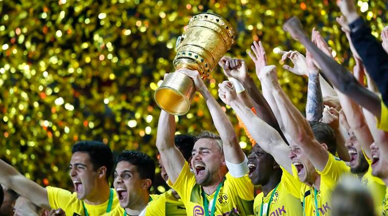 borrusia dortmund, german cup, dfb pokal, aubameyang, football news, sports news, indian express