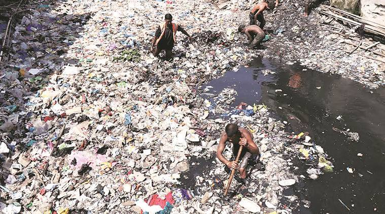 Dharavi, mumbai Dharavi, Dharavi drain, BMC, mumbai civic, mumbai monsoon, mumbai rain, waste management, latest news, latest india news, indian express