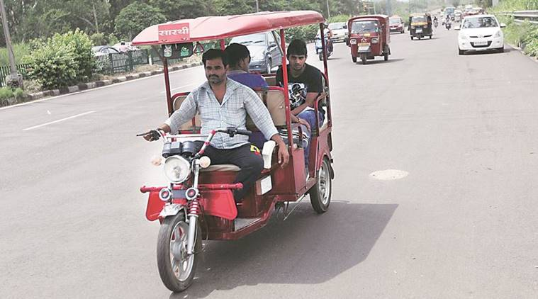 Chandigarh, Chandigarh e-rickshaw, E rickshaw colours, Chandigarh news, india news