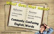 commonly confused words, easily confused words and meanings, commonly confused words and their meanings, indian express, indian express news