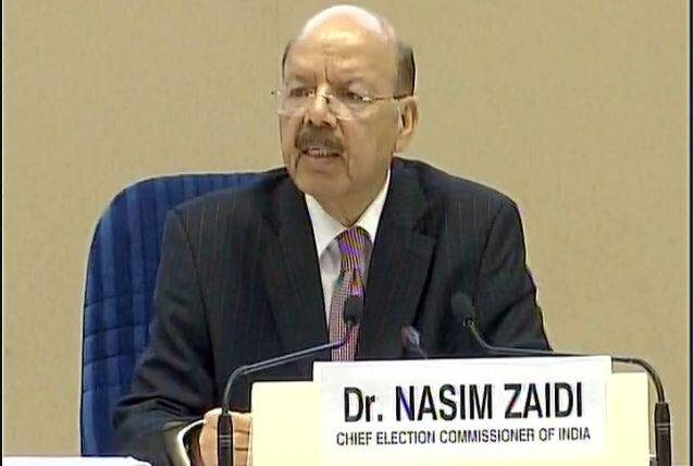 Election Commission, EVM, Election Commission of India, Election Commission EVMs, EC EVM, EC EVMs, EC VVPAT demo, EC EVM demo, Election Commission LIVE updates, Nasim Zaidi, Election Commission news