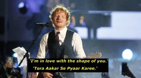 ed sheeran, shae of you, different versions of shape of ypou, bhojpuri version of shape of you indian express, indian express news