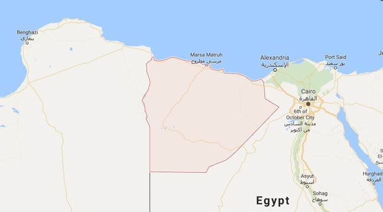 Egyptian Air Force Destroys Vehicles Crossing Border From Libya - Map of egypt libya
