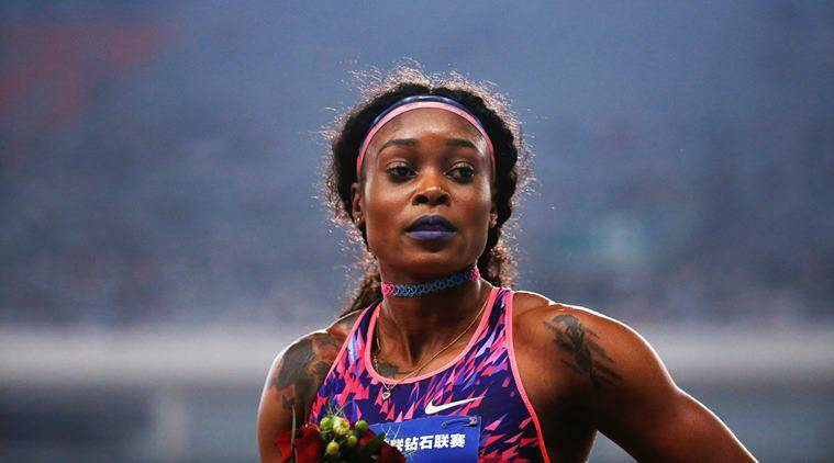 elaine thompson, shanghai elaine thompson, Shanghai Diamond League  elaine thompson, Shanghai Diamond League, sports news, indian express