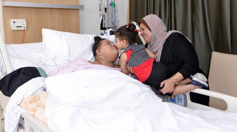 eman, eman ahmed, eman heavy woman, eman in Abu Dhabi, world heaviest woman, egypt heaviest woman, eman sister, indian express news, india news