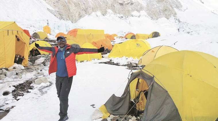 everest base camp, mt everest , everest climbers, everest camp 3, big e, ebc, diljinder singh bacchal, india news, indian express