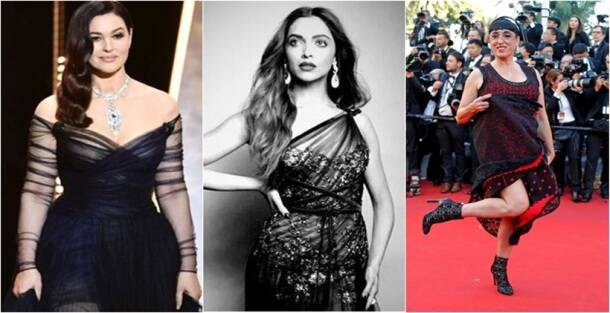 cannes 2017, cannes 2017 red carpet, deepika padukone, Monica Bellucci, susan sarandon, Uma Thurman, Cannes, cannes 2017, red carpet looks at cannes, who wore what at cannes, indian express, indian express news