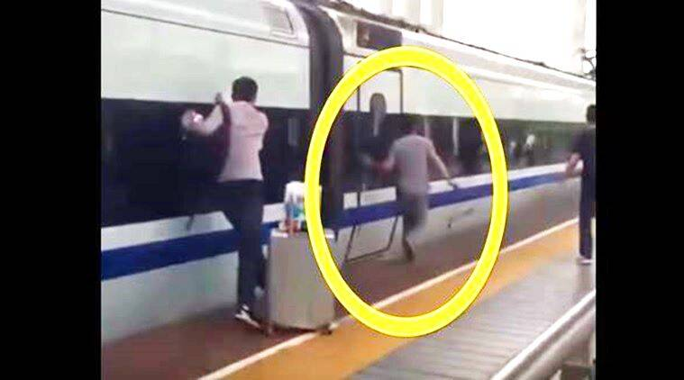 China, china accident, jingsau, train accident, most trending video, viral video, latest video, accident video, life in danger video, latest, indian express, indian express news