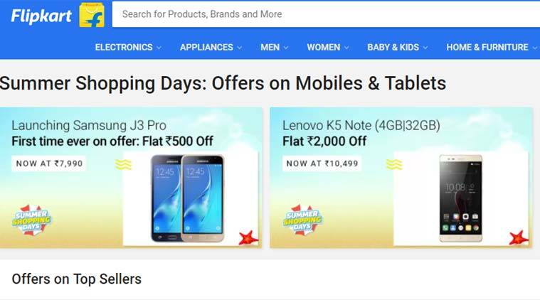 Flipkart Summer Shopping Days, Flipkart Summer Shopping Days deals, Flipkart iPhone discounts, Flipkart discounts, Flipkart Samsung Galaxy J3 Pro, Galaxy J3 Pro deals, Galaxy J3 Pro sale, Apple iPhone 6s, iPhone 6s discount, Samsung Galaxy discount, Lenovo K6 Power discount, technology, technology news