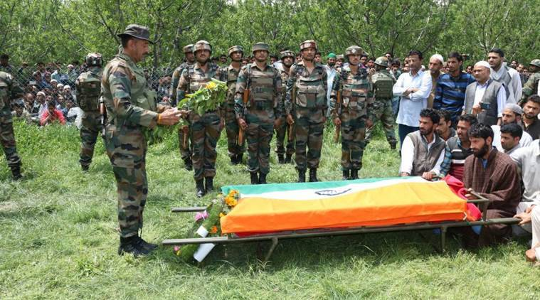 Kashmir, jammu and kashmir, Army, Army officer killed, shopian, Army officer killed shopian,army officer Funeral, Ummer Fayaz, Kulgam, Ummer Fayaz, india news