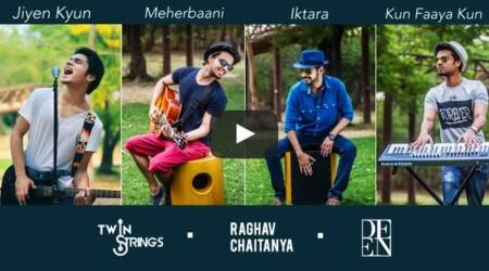 fusion covers, fusion covers Jiyein Kyun-Meherbaani-Iktara-Kun Faya, fusion cover 'Jiyein Kyun-Meherbaani-Iktara-Kun Faya' going viral, viral videos 'Jiyein Kyun-Meherbaani-Iktara-Kun Faya', fusion covers going viral 'Jiyein Kyun-Meherbaani-Iktara-Kun Faya', best bollywood song covers, best bollywood covers 'Jiyein Kyun-Meherbaani-Iktara-Kun Faya' fusion songs, indian express, indian express news