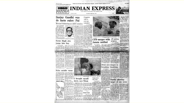 TA Pai, Sanjay Gandhi, PR Dasmunshi, Indian Express Forty Years Ago, indian express