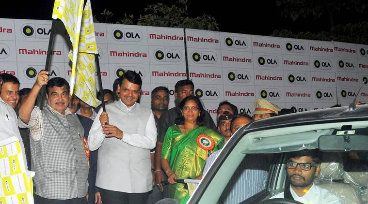 Electric vehicles,e-vehicles, electric mass mobility system, e-taxi, ola, Ola Electric, Nagpur, Mahindra and Mahindra,Electric mobility, SoftBank, Nitin Gadkari, Ola Cabs, india news, latest news
