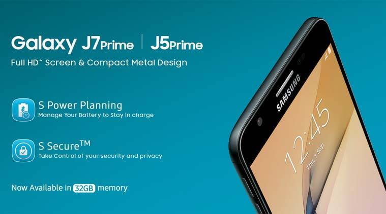 Samsung Galaxy J7 J5 Prime In 32gb Storage Now Available In India Technology News The Indian Express