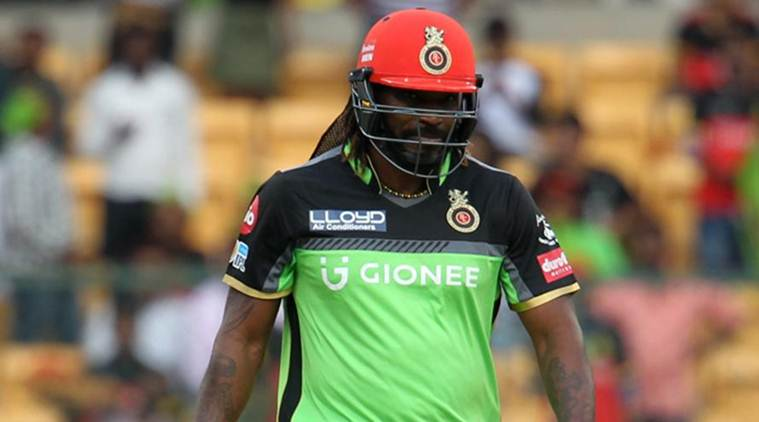 IPL 2017, IPL 2017 news, IPL 2017 updates, Chris Gayle, Chris Gayle wicket, Chris Gayle out, Chris Gayle Umesh Yadav, Chris Gayle RCB, Chris Gayle batting, sports news, sports, cricket news, Cricket, Indian Express