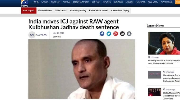kulbhushan jadhav, kulbhushan jadhav pakistan, pakistan media kulbhushan jadhav, icj, kulbhushan jadhav icj, india news, indian express news