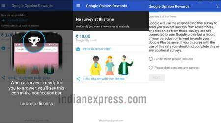 Google, Google Opinion Rewards app, Google Rewards app, Google free credit Play Store, Google Rewards, Google survey app, Google survey, technology, technology news